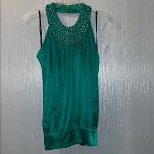 3/$25 Bebe silk beaded top. Size small